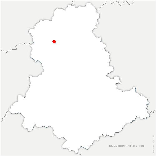 carte de localisation de Croix-sur-Gartempe