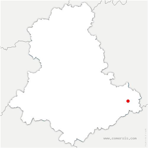carte de localisation de Eymoutiers