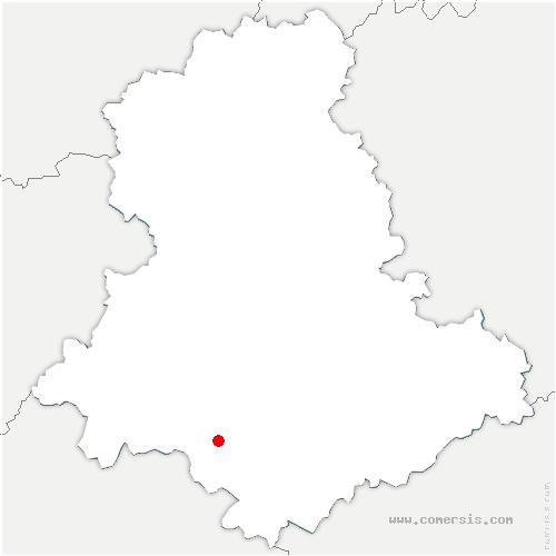carte de localisation de Ladignac-le-Long