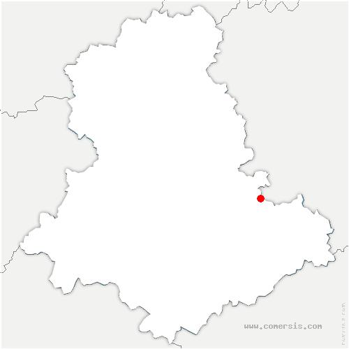 carte de localisation de Moissannes