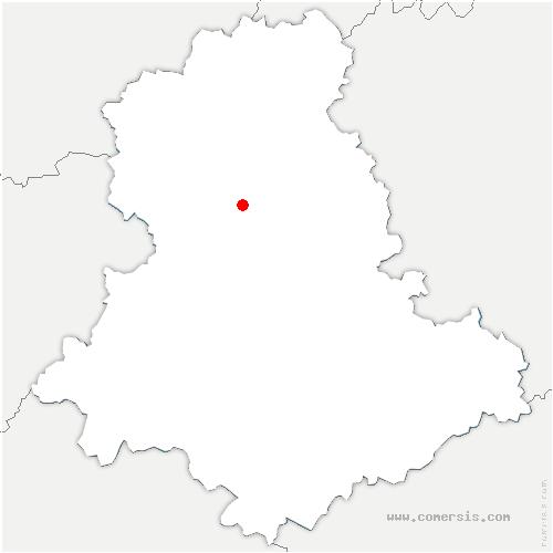 carte de localisation de Nantiat
