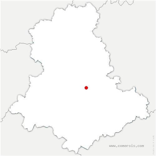 carte de localisation de Palais-sur-Vienne
