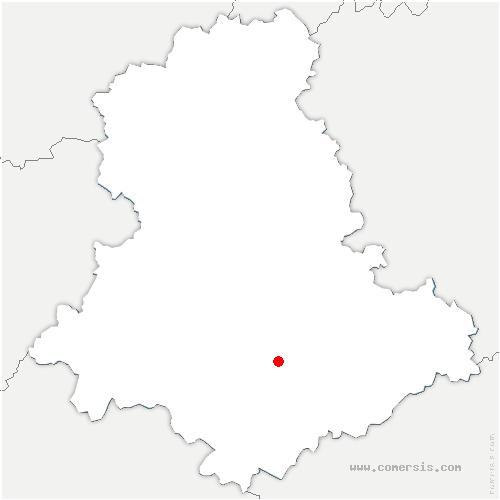 carte de localisation de Pierre-Buffière