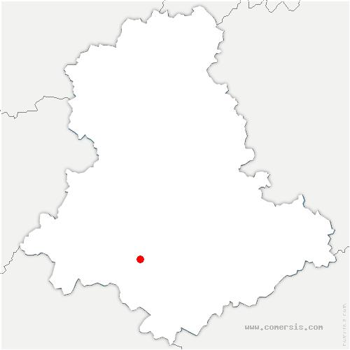carte de localisation de Rilhac-Lastours