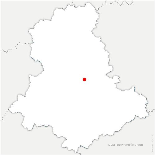 carte de localisation de Rilhac-Rancon