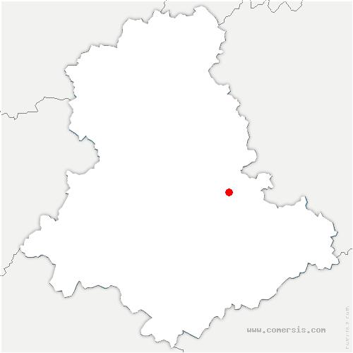 carte de localisation de Royères