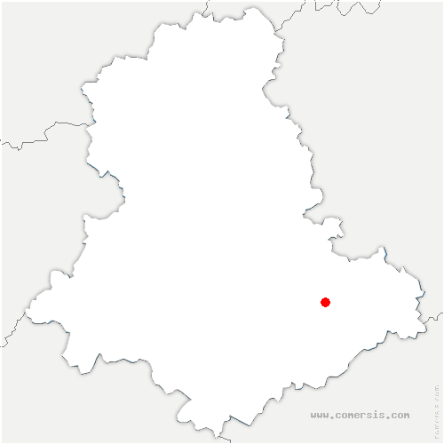 carte de localisation de Roziers-Saint-Georges