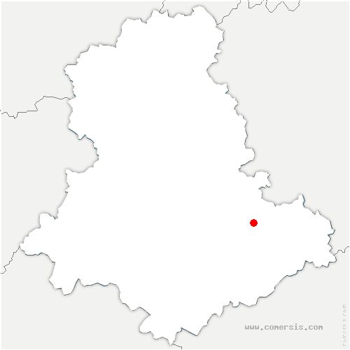 carte de localisation de Saint-Denis-des-Murs