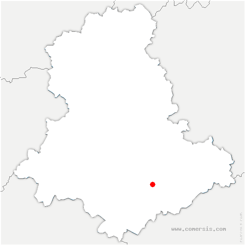 carte de localisation de Saint-Genest-sur-Roselle
