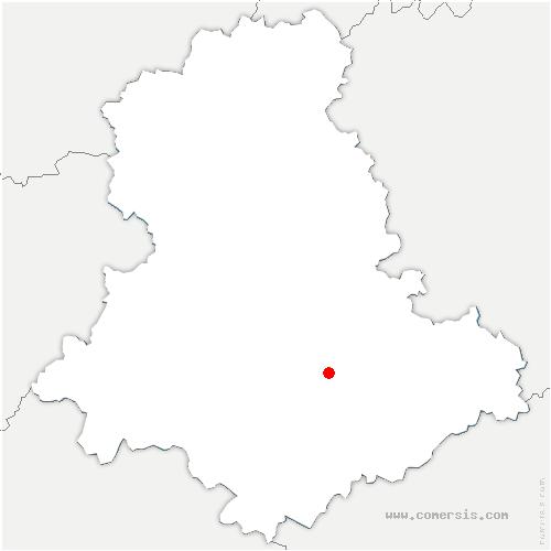 carte de localisation de Saint-Hilaire-Bonneval