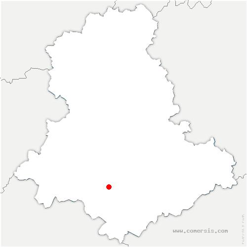 carte de localisation de Saint-Hilaire-les-Places