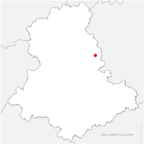 carte de localisation de Saint-Léger-la-Montagne