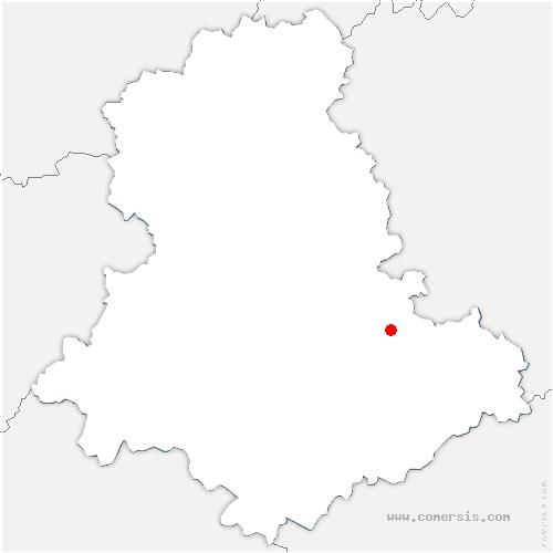 carte de localisation de Saint-Léonard-de-Noblat