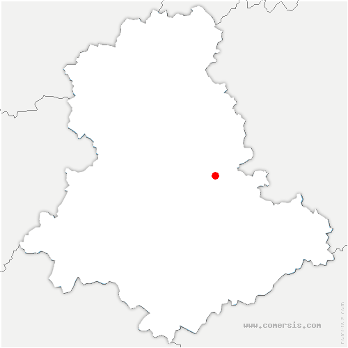 carte de localisation de Saint-Martin-Terressus