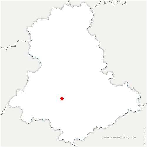 carte de localisation de Saint-Martin-le-Vieux