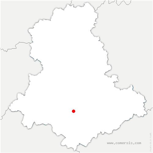 carte de localisation de Saint-Maurice-les-Brousses