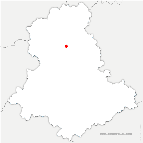 carte de localisation de Saint-Pardoux-le-Lac