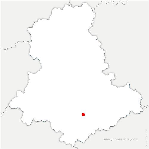 carte de localisation de Saint-Priest-Ligoure