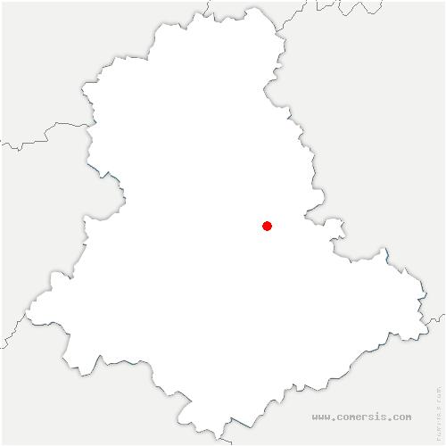 carte de localisation de Saint-Priest-Taurion