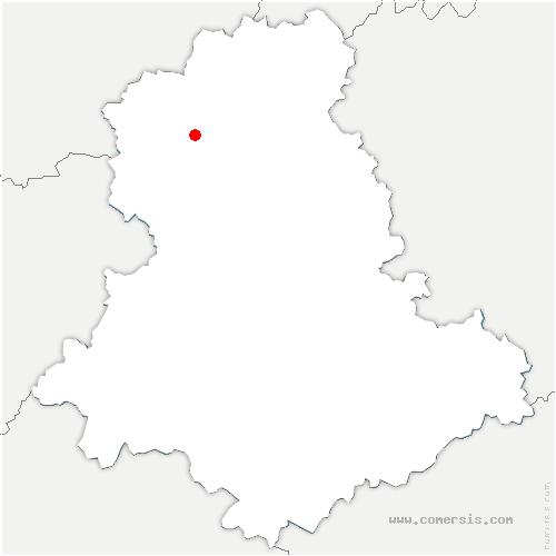 carte de localisation de Saint-Sornin-la-Marche