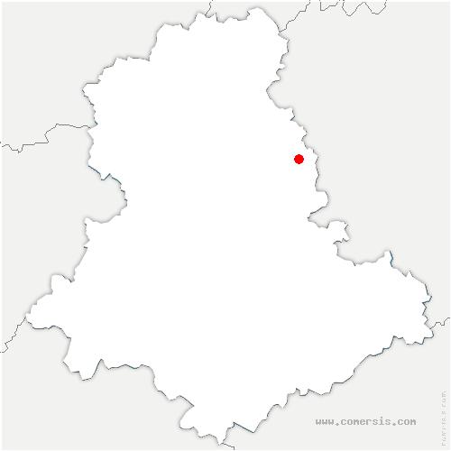 carte de localisation de Saint-Sulpice-Laurière