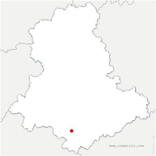 carte de localisation de Saint-Yrieix-la-Perche