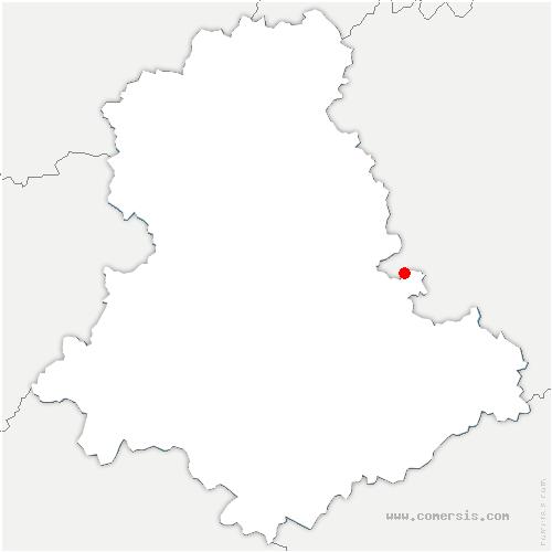 carte de localisation de Sauviat-sur-Vige