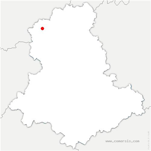carte de localisation de Val-d'Oire-et-Gartempe