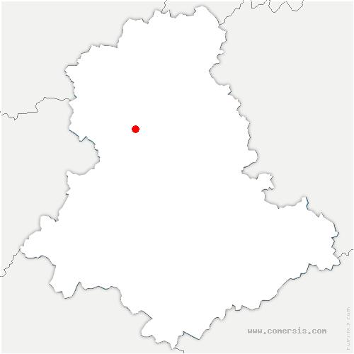 carte de localisation de Vaulry