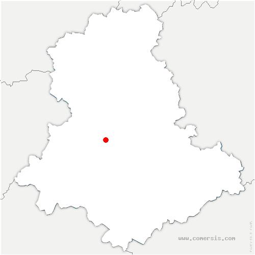 carte de localisation de Verneuil-sur-Vienne