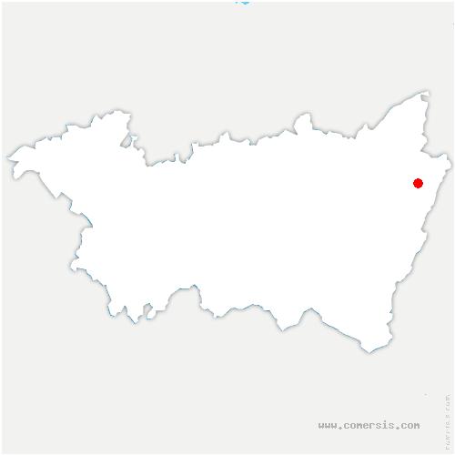 carte de localisation de Bertrimoutier