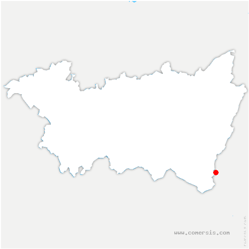 carte de localisation de Bussang