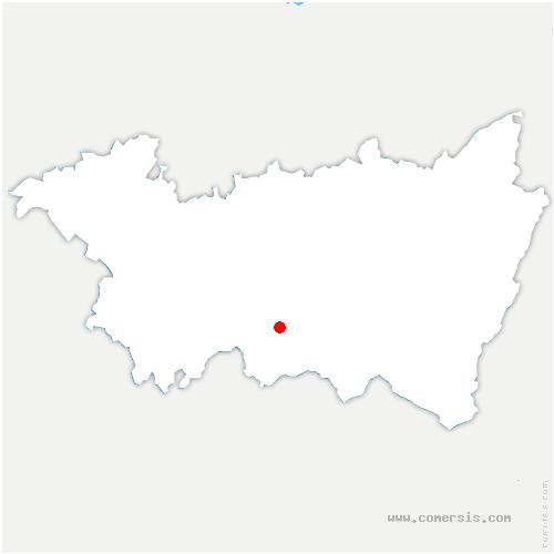 carte de localisation de Chapelle-aux-Bois
