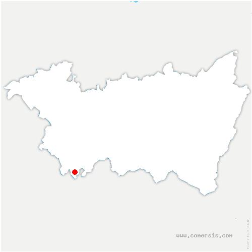 carte de localisation de Châtillon-sur-Saône