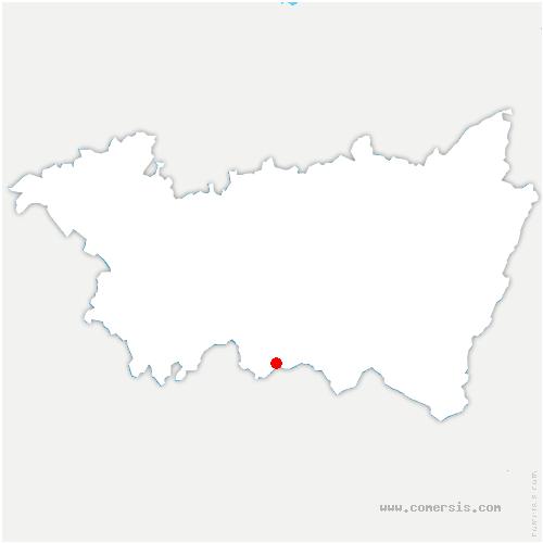 carte de localisation de Clerjus