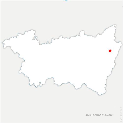 carte de localisation de Coinches