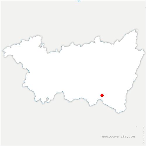 carte de localisation de Dommartin-lès-Remiremont