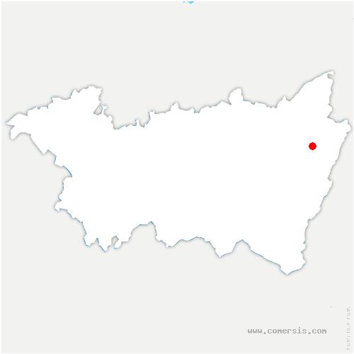 carte de localisation de Entre-deux-Eaux