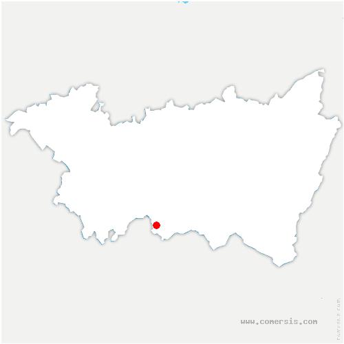 carte de localisation de Fontenoy-le-Château