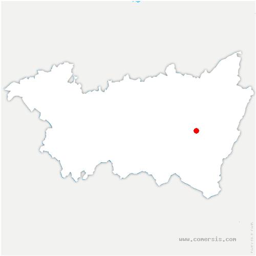 carte de localisation de Granges-Aumontzey