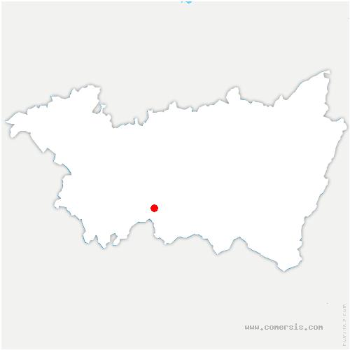carte de localisation de Gruey-lès-Surance