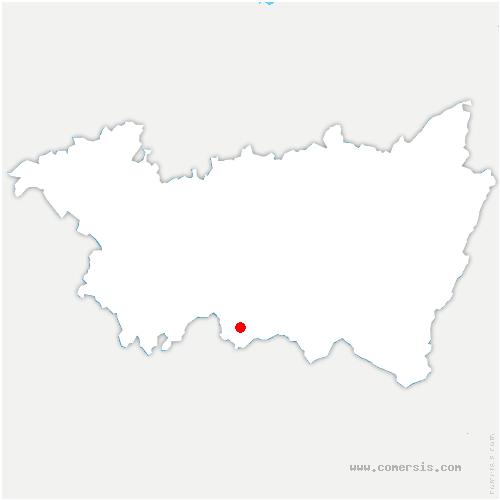 carte de localisation de La Vôge-les-Bains