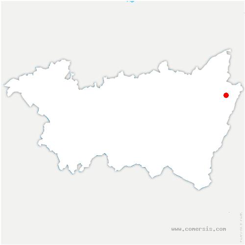 carte de localisation de Lesseux