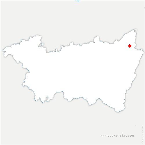 carte de localisation de Ménil-de-Senones