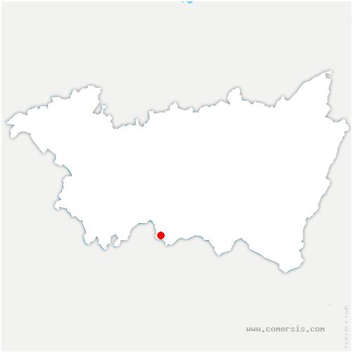 carte de localisation de Montmotier