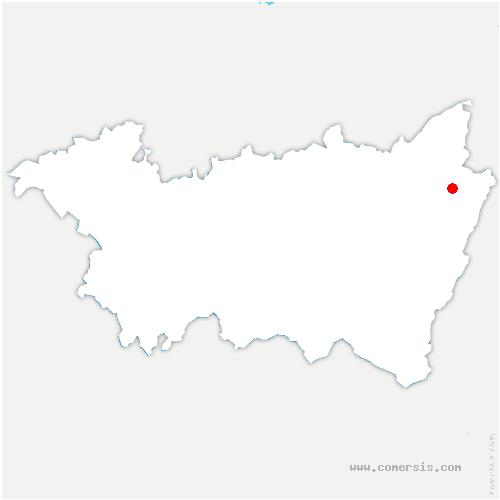 carte de localisation de Neuvillers-sur-Fave