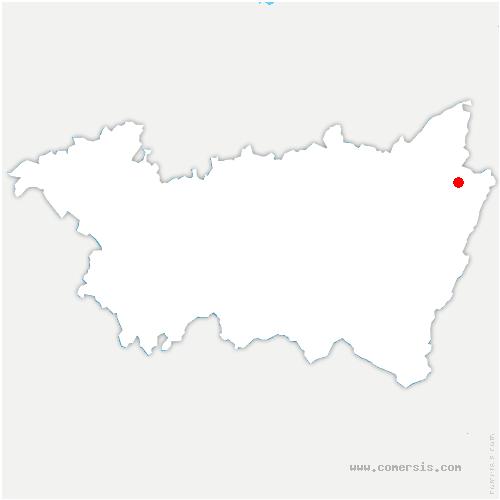 carte de localisation de Provenchères-et-Colroy