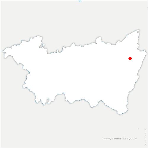 carte de localisation de Saint-Dié-des-Vosges