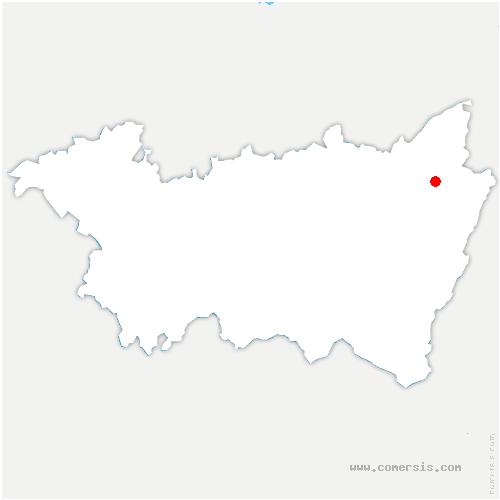 carte de localisation de Saint-Jean-d'Ormont