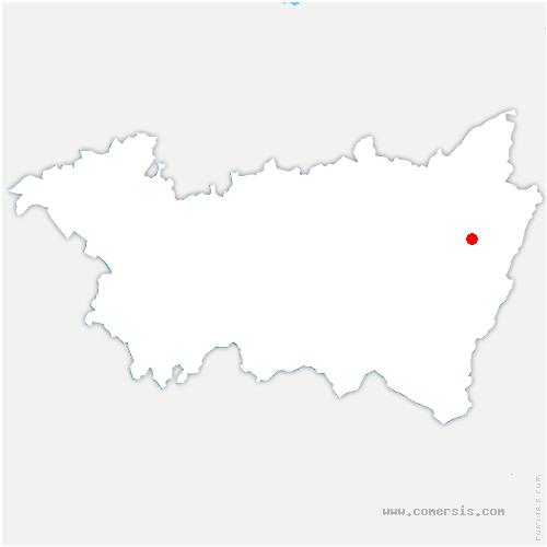 carte de localisation de Saulcy-sur-Meurthe